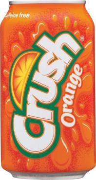 Напиток газированный, Orange, Crush, 355 мл., жестяная банка