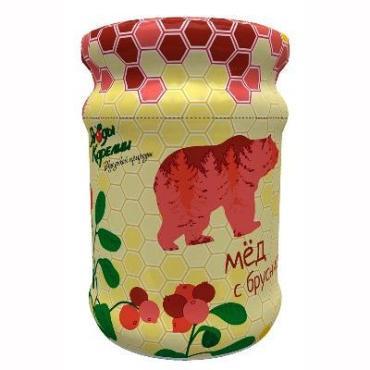 Мёд Ягоды Карелии с брусникой, 320 гр, стекло