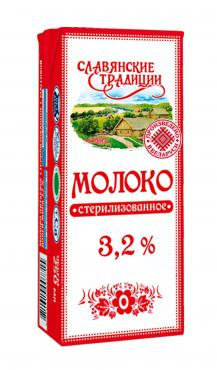 Молоко, 3,2%, Славянские традиции, 250 гр., тетра-пак