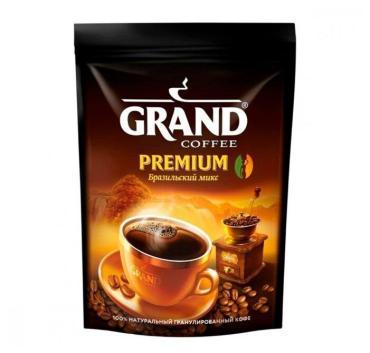 Кофе растворимый Grand Premium Бразильский микс, 75 гр., дой-пак
