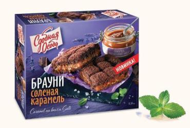 Брауни соленая карамель Черемушки, 380 гр., картонная коробка