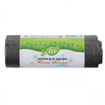Мешки для мусора 60 л., 30 шт., Русалочка Eco line, бумажная упаковка