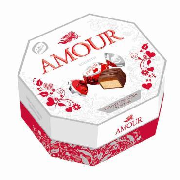 Конфеты с какао Konti Amour, 150 гр., картонная коробка