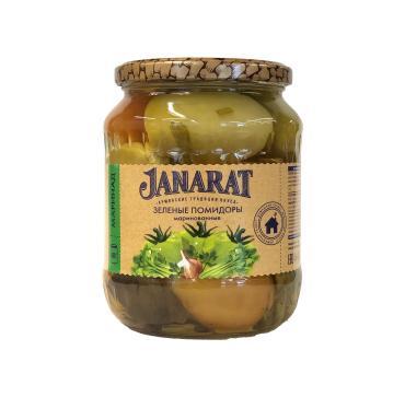 Зеленые помидоры маринованные Janarat 720 мл., стекло