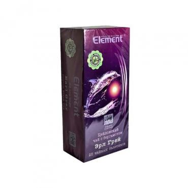 Чай черный с Бергамотом 25 пакетов, Element, картон