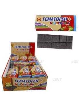 Гематоген+аскорбинка со вкусом земляники Волшебный Кондитер, 30 гр., обертка фольга/бумага
