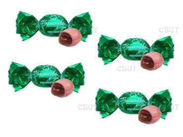 Конфеты карамель комбинированные вишневый десерт Спартак, 1 кг., пластиковый пакет
