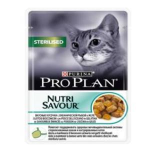 Корм для кошек, океаническая рыба Pro Plan Sterilised, 85 гр., дой-пак