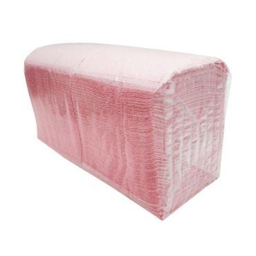 Салфетки 24х24 см., 1 слой, розоые, бумага, 400 шт., пластиковый пакет
