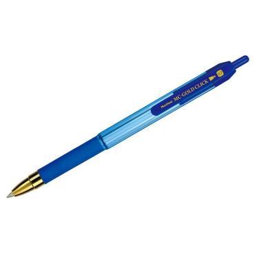 Ручка шариковая автоматическая синяя, 0,7 мм., грип MunHwa MC Gold Click
