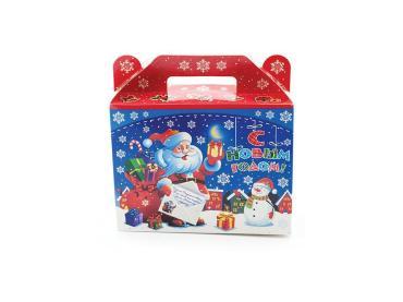 Новогодний подарок Синяя сумка, Главторг, 450 гр., картон