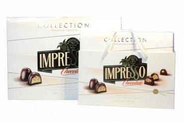 Набо шоколадных конфет, белый дизайн Impresso, 848 гр., картон