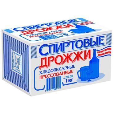 Дрожжи Спиртовые хлебопекарные прессованные, DCL, 1 кг, флоу-пак