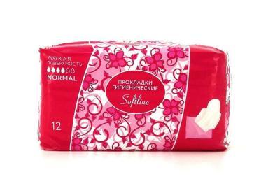 Прокладки женские впитывающие normal Softline, пластиковый пакет