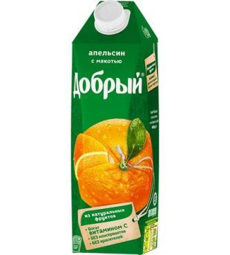 Сок апельсин Добрый, 1 л., тетра-пак