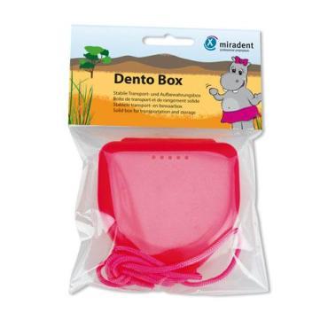 Футляр для детских кап, пластинок, розовый Dento Box , пластиковый пакет