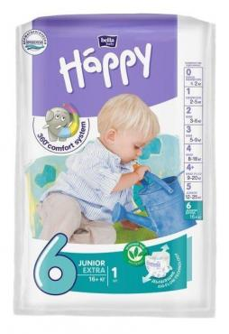 Подгузники 16+ кг. Junior Extra 1 шт., Bella Baby Happy