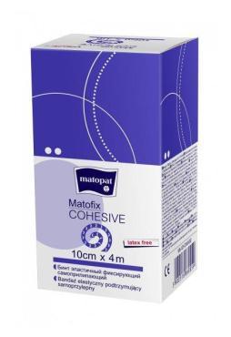 Бинт медицинский эластичный фиксирующий самоприлипающий 4 м.*10 см., Matopat Matofix Cohesive, картон