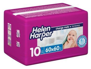 Пелёнки детские 60*60 10 шт., Helen Harper