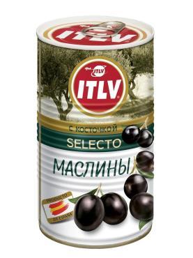 Маслины ITLV черные с косточкой