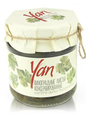 Листья Yan винограда консервирнные, 440 гр, стекло
