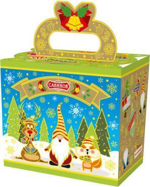 Набор кондитерский (конфеты, печенье), Забавные гномы ,Савинов, 300 гр., картон