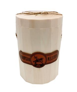 Мёд Башкирская медовня липовый рубленный, 1 кг, подарочная упаковка