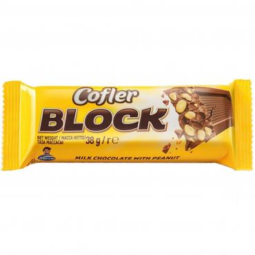 Шоколад с арахисом, COFLER BLOCK ARCOR, 38 гр., флоу-пак