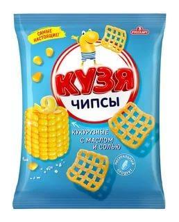 Чипсы с маслом и солью Русскарт Кузя Лакомкин 45 гр., флоу-пак