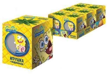 Мармелад с игрушкой Sweet Box Sponge bob square pants, 10 гр., картон