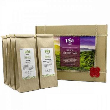 Чай Набор черных чаев, ассорти из 8 видов чая 101 ЧАЙ, 280 гр., бумажная упаковка