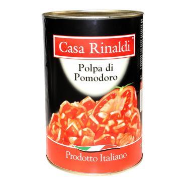Кусочки TM Сasa Rinaldi очищенных помидоров в томатном соке, 4.05 кг, ж/б