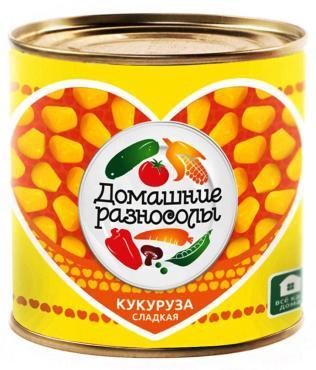 Кукуруза сладкая Домашние разносолы 400 гр., ж/б