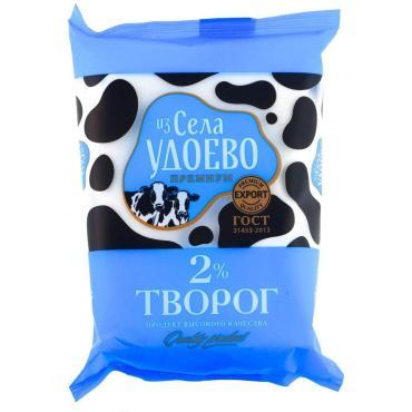 Творог зерно 2% Удоево 180 гр., флоу-пак
