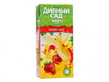 Сок клубника-банан Дивный Сад, 200 мл., тетра-пак
