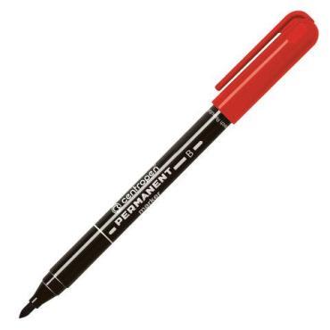 Маркер перманентный красный, пулевидный, 2 мм., Centropen 2836