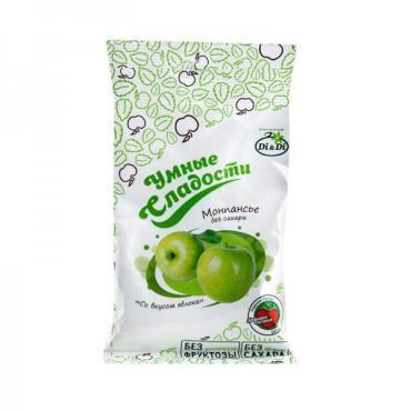 Леденцы без сахараЗеленое яблоко, Умные сладости, 55 гр., пластиковый пакет