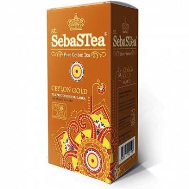 Чай, черный мелколистовой, 25 пакетиков SebasTea Ceylon Gold, картон