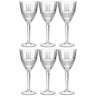 Набор бокалов для белого вина/воды, 6 штук, 230 мл., RCR Вrillante