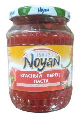 Паста из красного перца, Noyan, 750 гр., стекло
