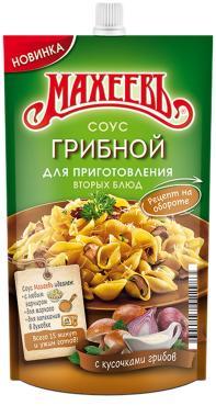 Соус на основе растительных масел грибной 25% Махеевъ, 250 гр., дой-пак с дозатором