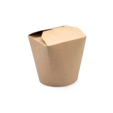 Коробка для лапши картонная wok 500 мл., крафт, картон