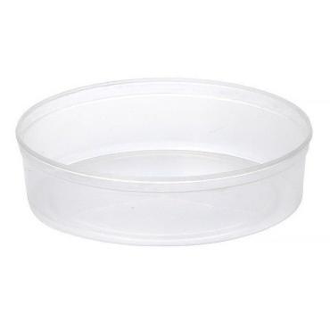 Контейнер одноразовый пластиковый Перинт шайба для пресервов и мёда цвет полупрозрачный 400 мл., d=145 мм., h=40 мм., Россия, картон