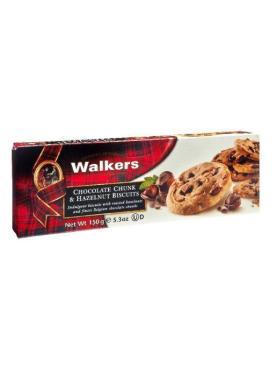 Печенье Walkers Шоколадная крошка и фундук, 150 гр., картон