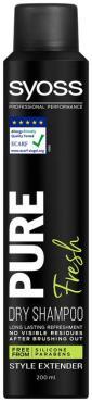 Шампунь сухой Syoss Pure Fresh Очищение и объем, 200 мл., аэрозольная упаковка
