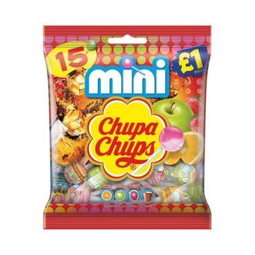 Леденец Chupa Chups Mini, 15 штук, 90 гр., флоу-пак