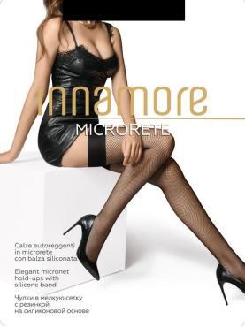 Чулки женские Innamore Microrete calce, мелкая сетка цвет miele, 2 размер, пластиковый пакет