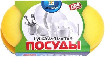 Губки Ufapack для мытья фруктов, в оплетке 2 шт., 50 гр., обертка фольга/бумага