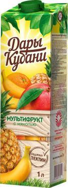 Нектар Дары Кубани мультифрукт, 1 л., тетра-пак