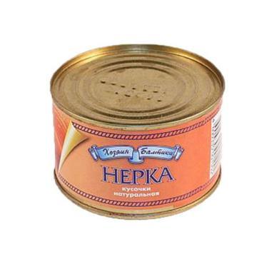 Нерка Хозяин Балтики натуральная  Россия 240 гр., ж/б